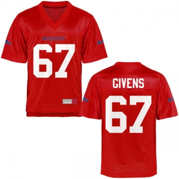 Men's Alex Givens Ole Miss Rebels Game Football Jersey - Cardinal