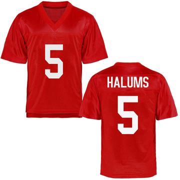 Men's Brian Halums Ole Miss Rebels Replica Cardinal Football College Jersey