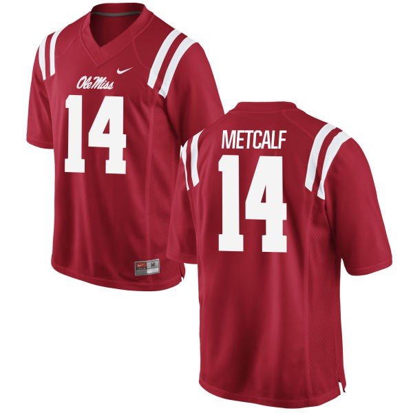 Men's D.K. Metcalf Ole Miss Rebels Nike Replica Red Football Jersey -