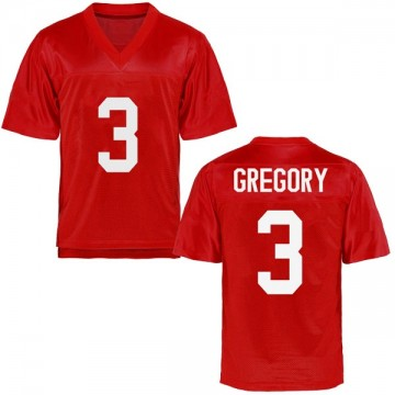 Men's DeMarcus Gregory Ole Miss Rebels Game Cardinal Football College Jersey