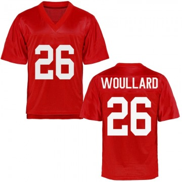 Men's Isaiah Woullard Ole Miss Rebels Game Cardinal Football College Jersey