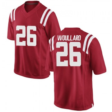 Men's Isaiah Woullard Ole Miss Rebels Game Red Football College Jersey