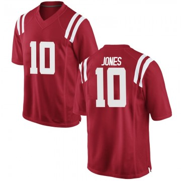 Men's Jacquez Jones Ole Miss Rebels Nike Game Red Football College Jersey