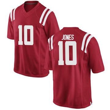 Men's Jacquez Jones Ole Miss Rebels Nike Replica Red Football College Jersey