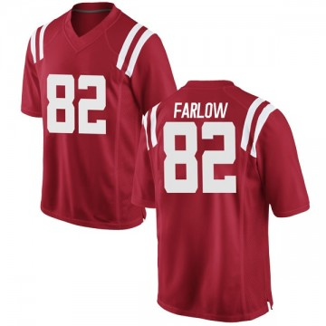 Men's Jared Farlow Ole Miss Rebels Nike Replica Red Football College Jersey
