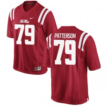 Men's Javon Patterson Ole Miss Rebels Nike Game Red Football Jersey -