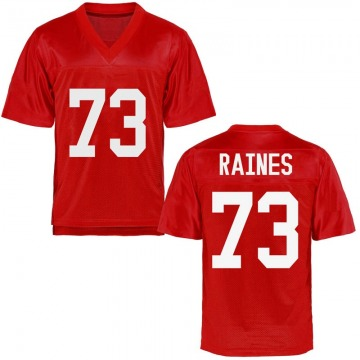 Men's John Raines Ole Miss Rebels Game Cardinal Football College Jersey