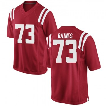 Men's John Raines Ole Miss Rebels Nike Replica Red Football College Jersey