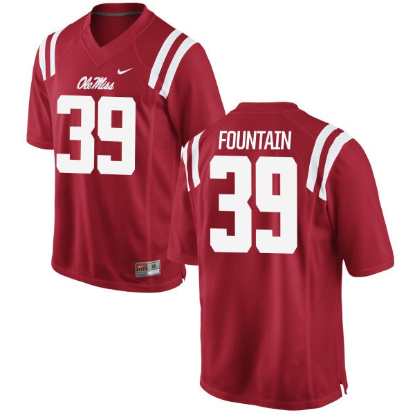 Men's Kweisi Fountain Ole Miss Rebels Nike Game Red Football Jersey -