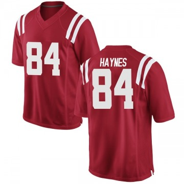 Men's Nick Haynes Ole Miss Rebels Nike Game Red Football College Jersey