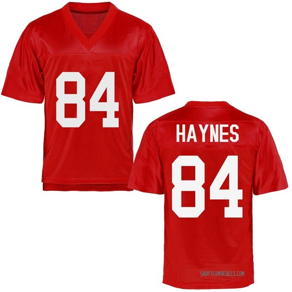 Men's Nick Haynes Ole Miss Rebels Replica Cardinal Football College Jersey