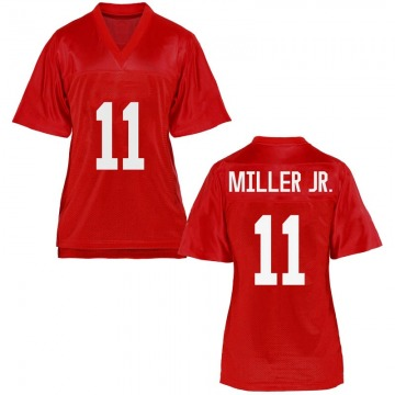 Women's Franco Miller Jr. Ole Miss Rebels Replica Cardinal Football College Jersey