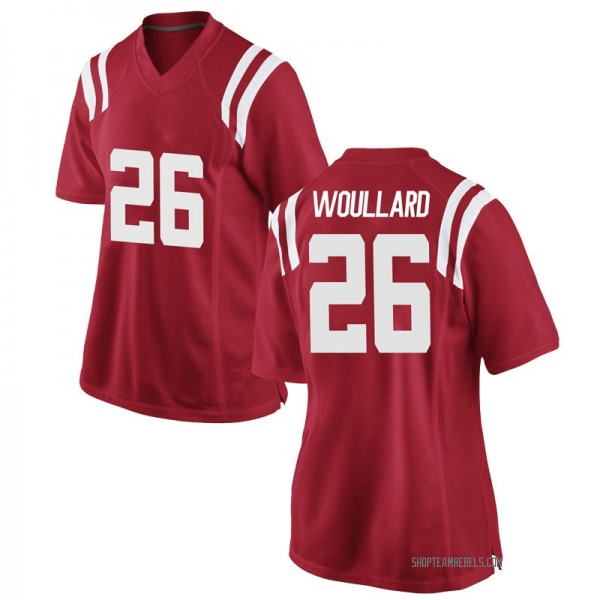 Women's Isaiah Woullard Ole Miss Rebels Nike Game Red Football College Jersey