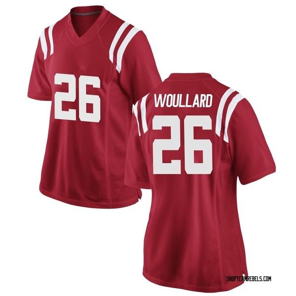 Women's Isaiah Woullard Ole Miss Rebels Nike Replica Red Football College Jersey