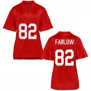 Women's Jared Farlow Ole Miss Rebels Replica Cardinal Football College Jersey