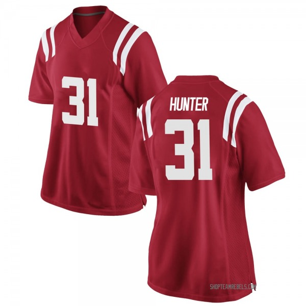 Women's Seth Hunter Ole Miss Rebels Nike Game Red Football College Jersey