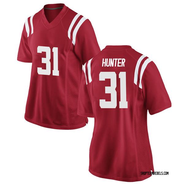 Women's Seth Hunter Ole Miss Rebels Nike Replica Red Football College Jersey