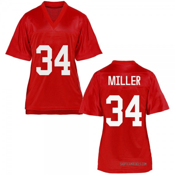 Women's Zavier Miller Ole Miss Rebels Replica Cardinal Football College Jersey