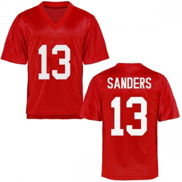 Youth Braylon Sanders Ole Miss Rebels Game Cardinal Football College Jersey