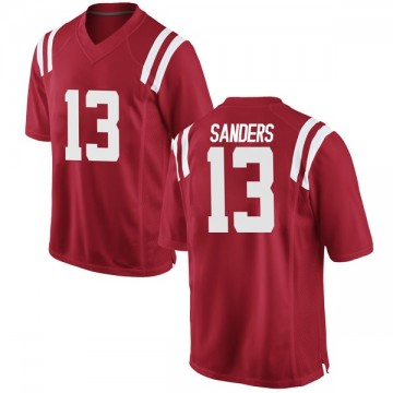 Youth Braylon Sanders Ole Miss Rebels Nike Game Red Football College Jersey