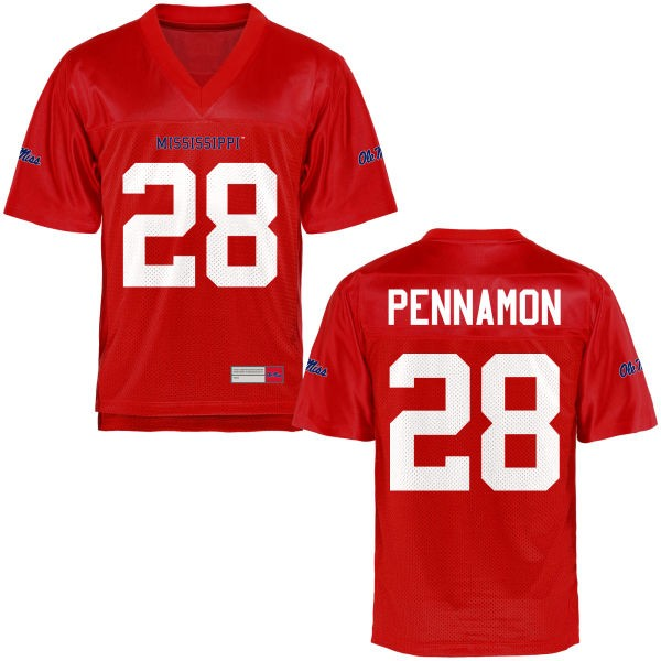 Youth D'Vaughn Pennamon Ole Miss Rebels Game Football Jersey - Cardinal