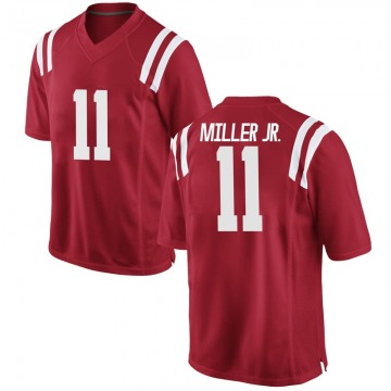 Youth Franco Miller Jr. Ole Miss Rebels Nike Game Red Football College Jersey