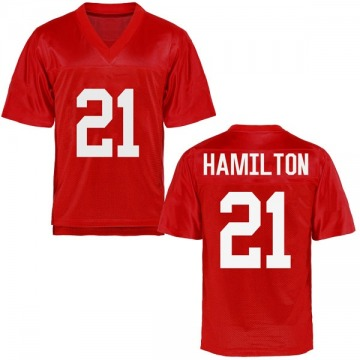 Youth Javien Hamilton Ole Miss Rebels Game Cardinal Football College Jersey