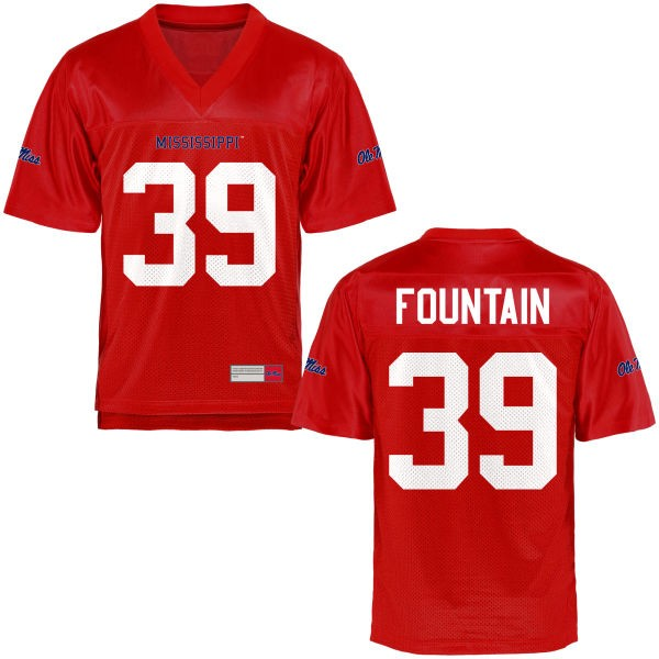 Youth Kweisi Fountain Ole Miss Rebels Limited Football Jersey - Cardinal