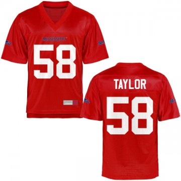 Youth Mike Taylor Ole Miss Rebels Game Football Jersey - Cardinal