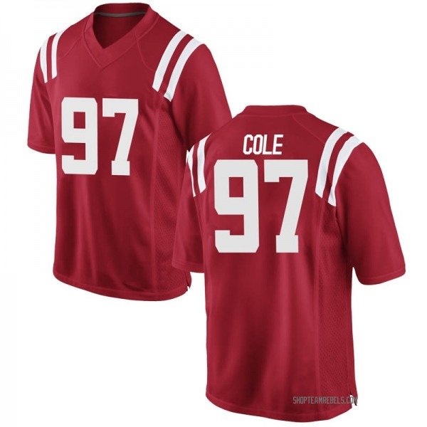 Youth Spencer Cole Ole Miss Rebels Nike Replica Red Football College Jersey
