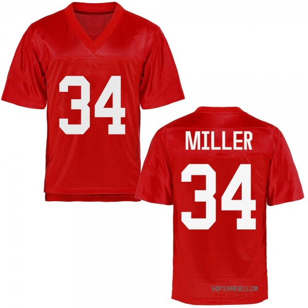 Youth Zavier Miller Ole Miss Rebels Replica Cardinal Football College Jersey